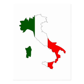 Carte de drapeau de l'Italie Carte Postale