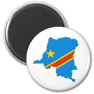 carte de drapeau de pays du Zaïre Congo Aimant