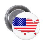 Carte de drapeau des Etats-Unis Pin's