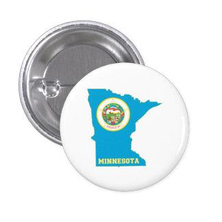 Carte de drapeau d'état du Minnesota Pin's