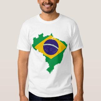 carte de drapeau du Brésil T-shirt