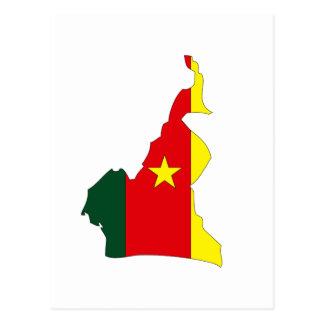 Carte de drapeau du Cameroun