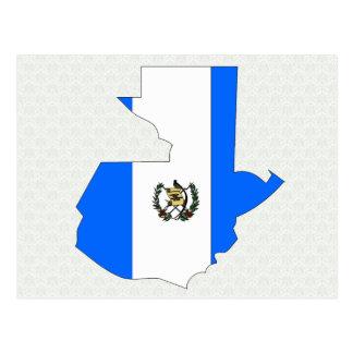 Carte de drapeau du Guatemala normale
