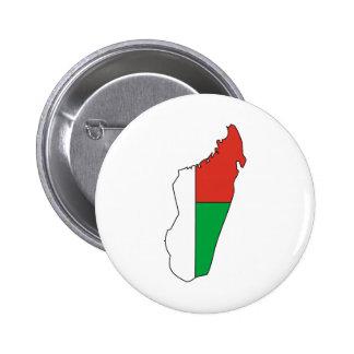 Carte de drapeau du Madagascar normale Badges Avec Agrafe