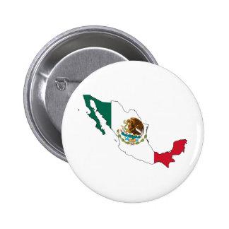 carte de drapeau du Mexique. La Bandera Nacional Badges Avec Agrafe