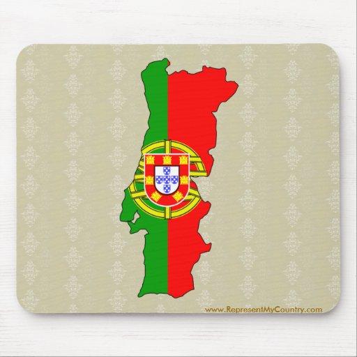 carte de drapeau du portugal normale tapis de souris zazzle. Black Bedroom Furniture Sets. Home Design Ideas