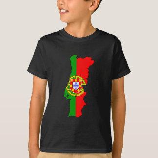 Carte de drapeau du Portugal T-shirt