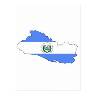 Carte de drapeau du Salvador