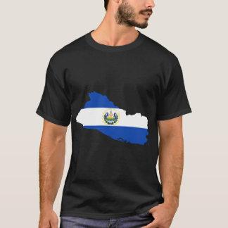 Carte de drapeau du Salvador T-shirt