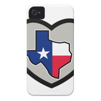 Carte de drapeau du Texas à l'intérieur d'icône de Coques Case-Mate iPhone 4