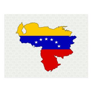 Carte de drapeau du Venezuela normale