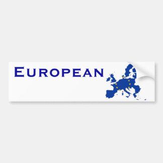 Carte de drapeau d'Union européenne Autocollant De Voiture