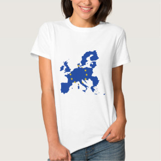 Carte de drapeau d'Union européenne T-shirt