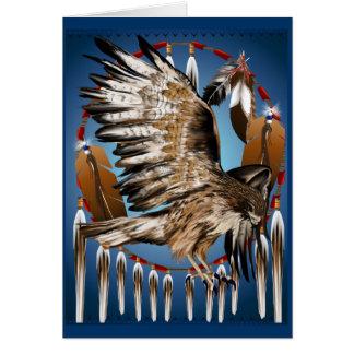 Carte de Dreamcatcher de faucon de vol