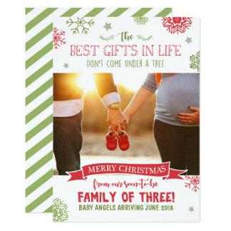 Carte de faire-part de grossesse de Joyeux Noël