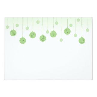 Carte de faire-part de mariage d'ampoule carton d'invitation  12,7 cm x 17,78 cm