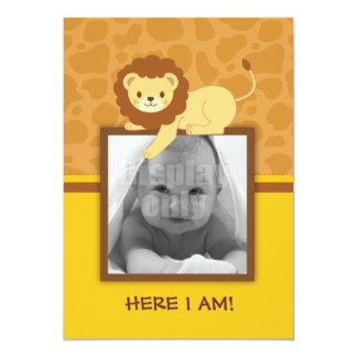 Carte de faire-part de naissance de lion