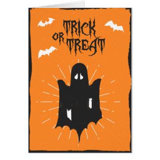 Carte de fantôme de Halloween