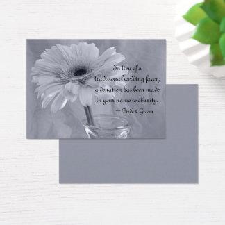 Carte de faveur de charité de mariage de