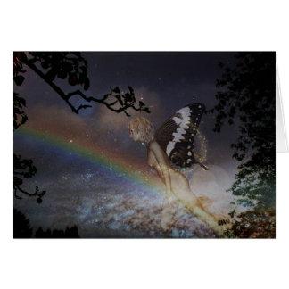 Carte de fée d'arc-en-ciel