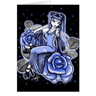 Carte de fée de rose de bleu d'affinité