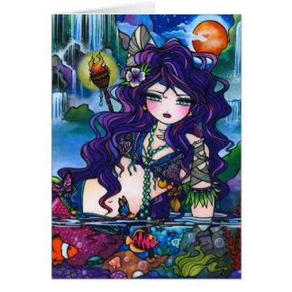"""Carte de fée de sirène """"de trésors cachés"""""""