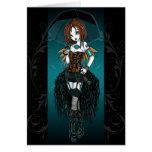 Carte de fée de Steampunk Cybergoth de Samara