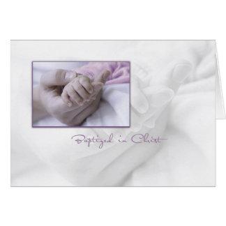 Carte de félicitations de baptême de fille pour le
