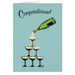 Carte de félicitations de Champagne