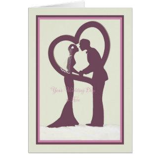 Carte de félicitations de mariage avec la jeune