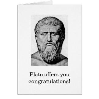 Carte de félicitations de Platon
