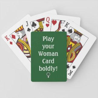 Carte de femme, cartes de jeu, visages standard cartes à jouer