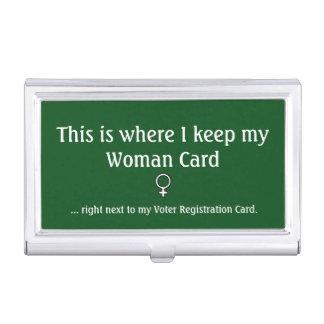 Carte de femme, porte-cartes de carte de visite étui pour cartes de visite