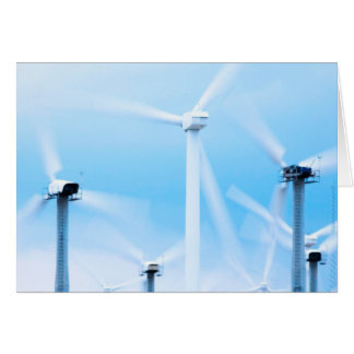 Carte de ferme de vent