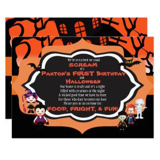 Carte de fête d'anniversaire de l'enfant