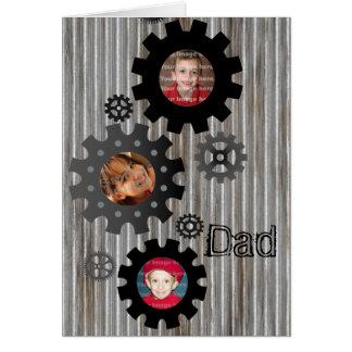 Carte de fête des pères de cadre de photo de