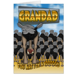 Carte de fête des pères de papy - vous avez 1 ans