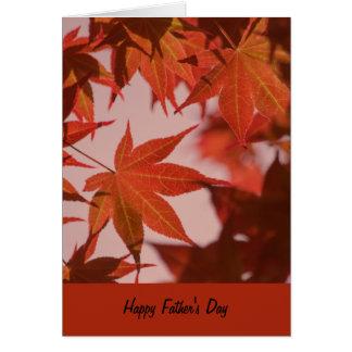 Carte de fête des pères, feuille vibrant d'érable