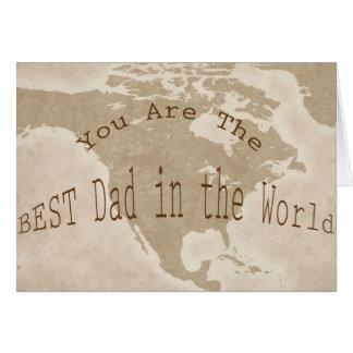 Carte de fête des pères--Le MEILLEUR papa