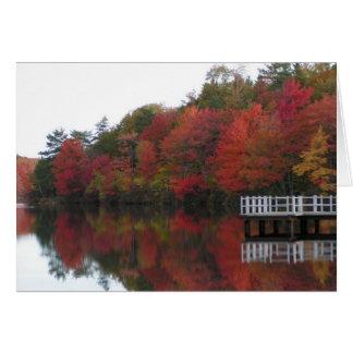 Carte de feuillage d'automne
