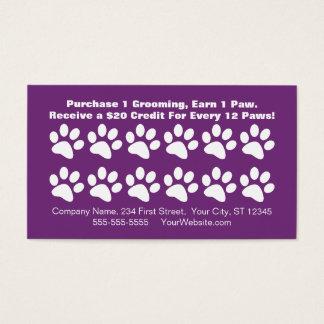 Carte de fidélité de client de toilettage de chien