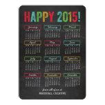 Carte de fin de année coloré d'affaires de invitations personnalisées