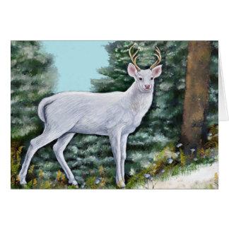 Carte de fin de année de cerf de Frost