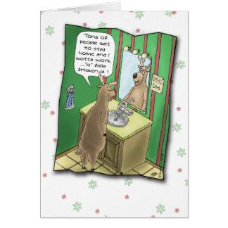 Carte de fin de année drôle : Réveillon de Noël