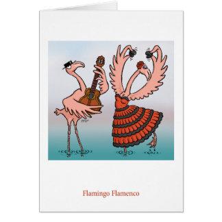 Carte de flamenco de flamant