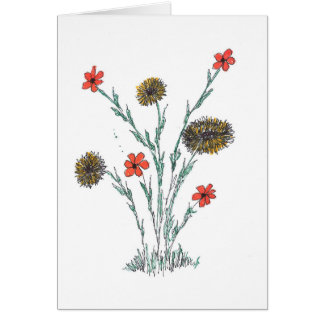 Carte de fleur