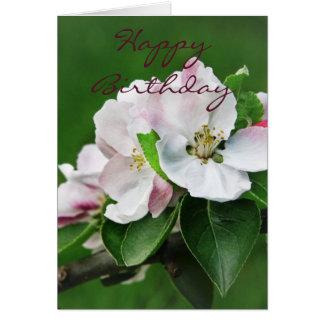 Carte de fleur de pommier