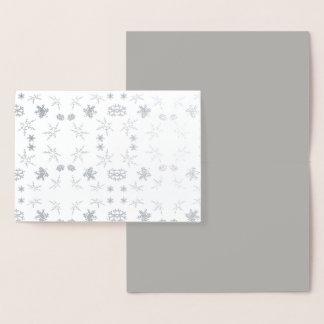 Carte de flocons de neige