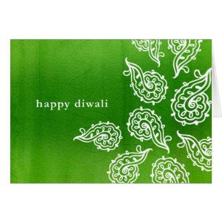 Carte de Forest Green Paisleys Diwali