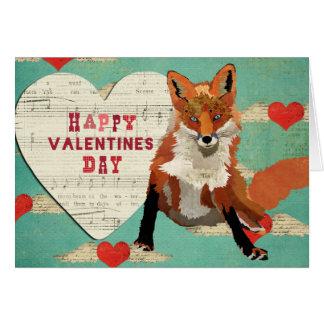 Carte de Fox rouge Valentine
